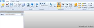 Modern ribbon based user interface