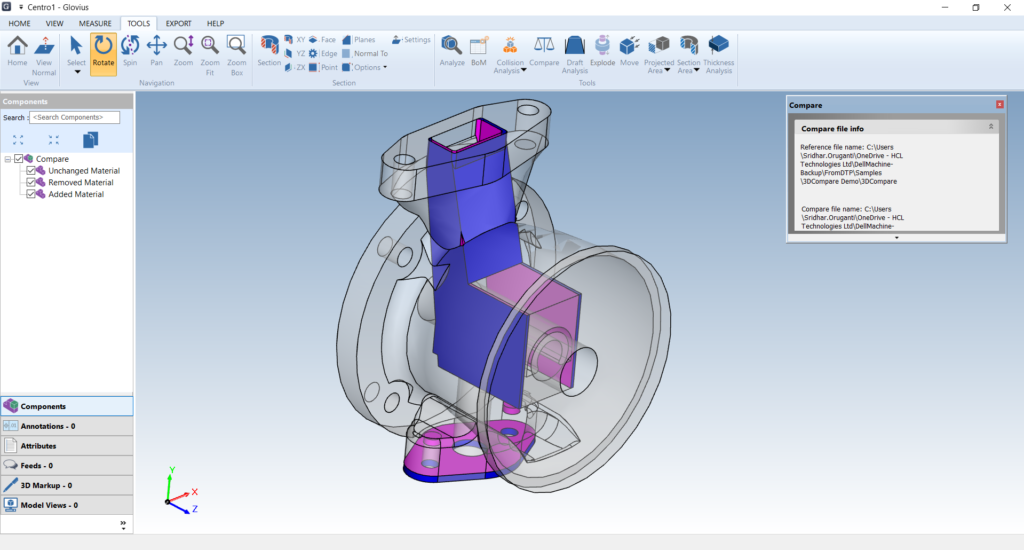 Compare 3D CAD Files
