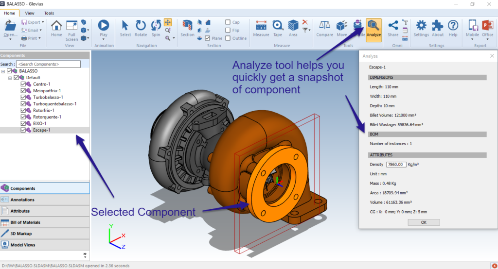 Quickly Analyze Component Properties