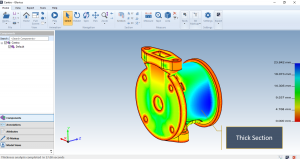 thickness analysis of catia, cad thickness analysis, cad software, cad viewer