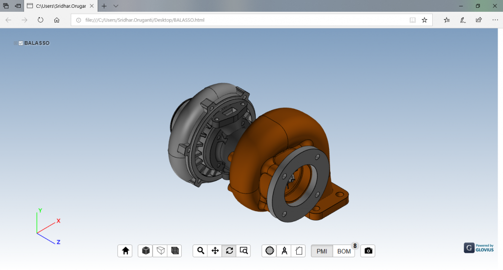 Export 3D parts and assemblies to 3DHTML, export CATIA to 3D HTML