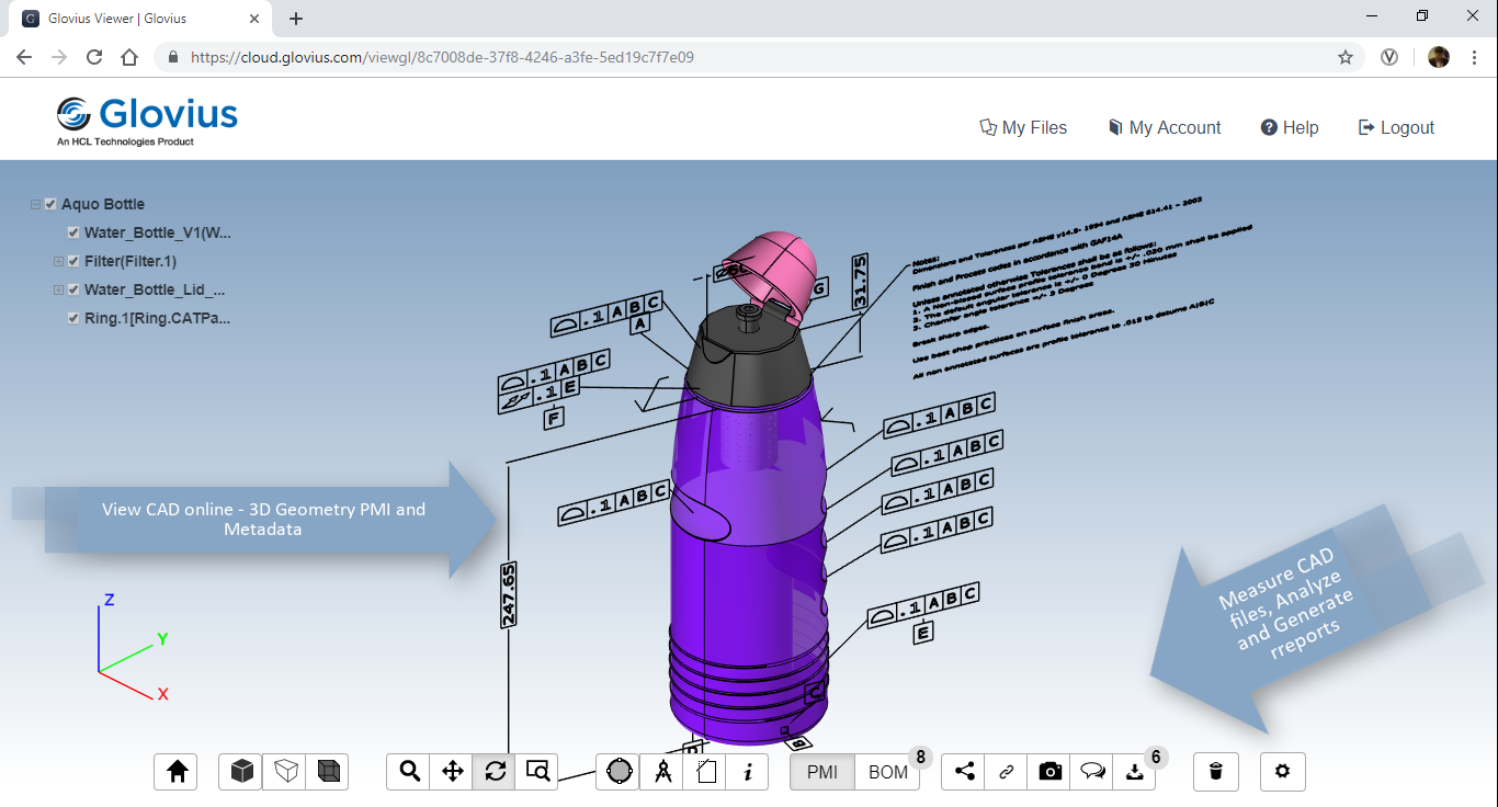 View CAD files online | Glovius