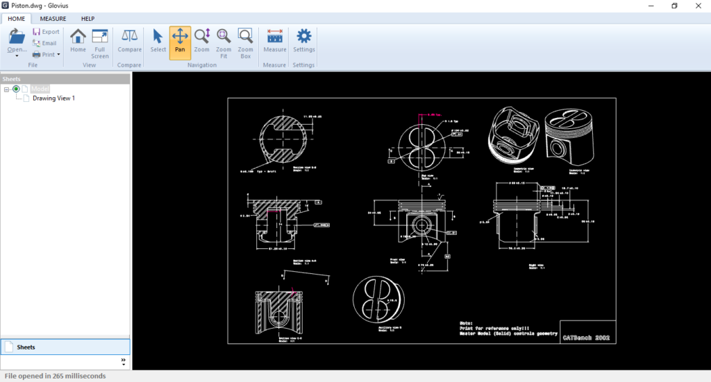 view dwg files, view dxf files, view catdrawing files