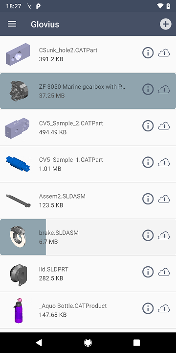 View CAD parts and assemblies on your Android device.
