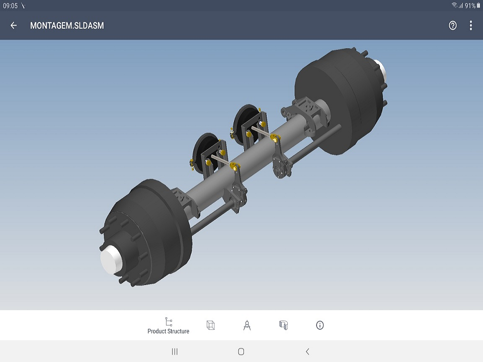 View CAD parts and assemblies on your Android device
