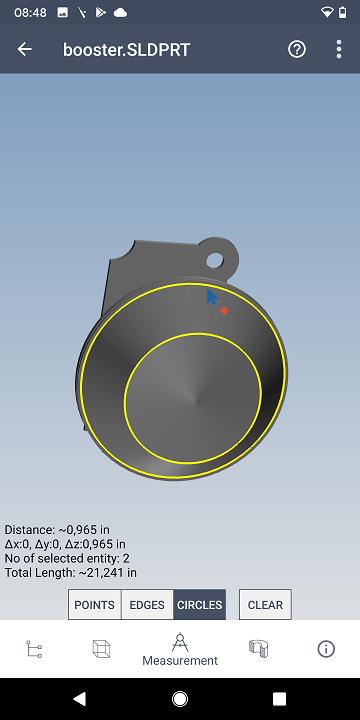 Measure 3D CAD model