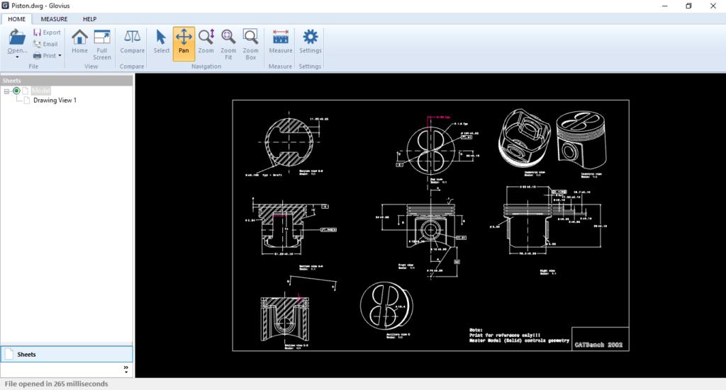 2D CAD Viewer