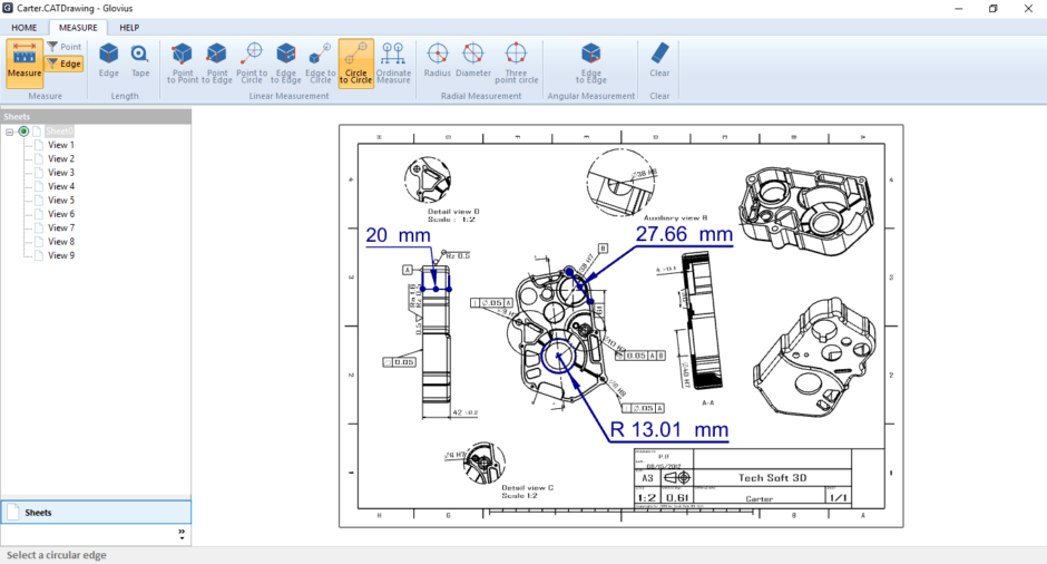 Measure DWG, DXF, and CATDrawing Files
