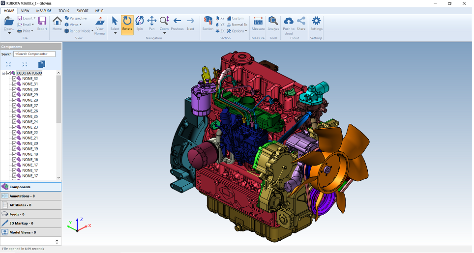 nx viewer, prt file viewer, parasolid viewer, open NX PRT files with Glovius.