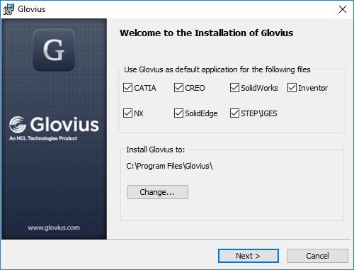 Installation of glovius
