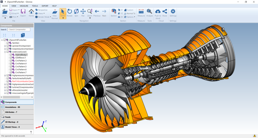 3D CAD viewer for Aerospace Industry