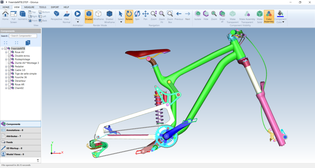 view stp files with measure, section, and other analysis tools